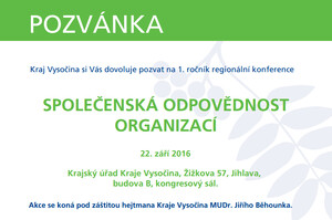 Kraj Vysočina  Společenská odpovědnost – téma pro moderní organizace ... 9ec2075ccb